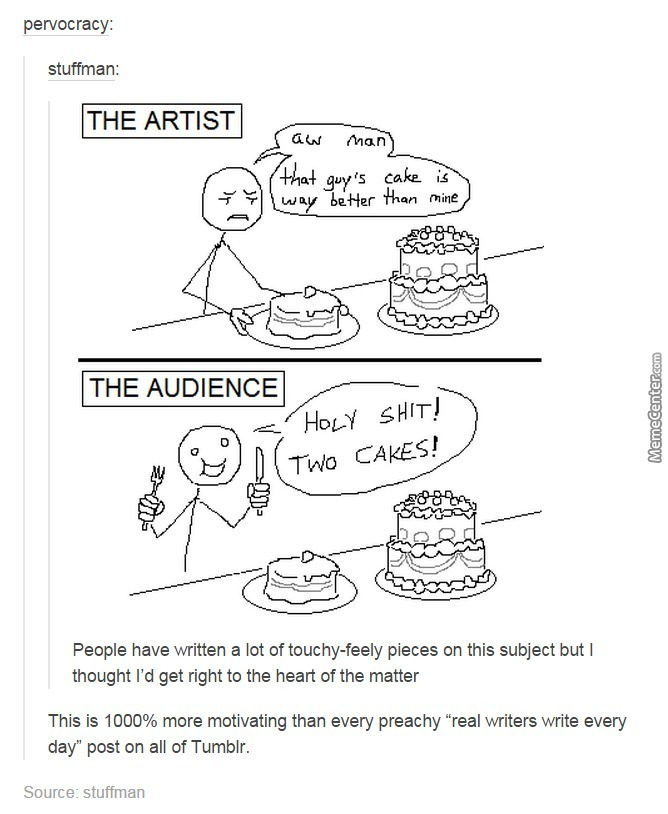 Art Is Like A Cake, And So Is Humor. by coverexcors , Meme