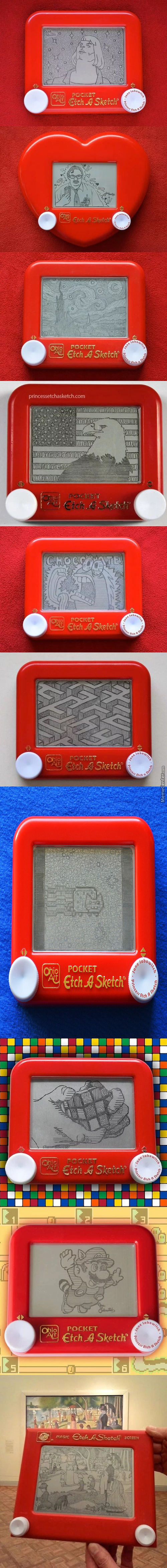 Art Of The Etch A Sketch By Jane Labowitch