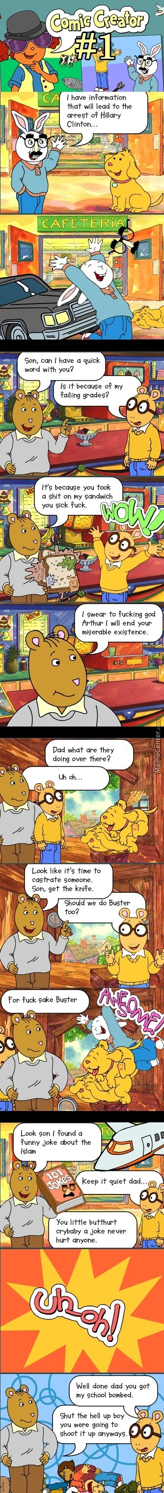 Arthur Comic Creator, Making Memes From Children Games Is Obviously A Sane And Adult Thing To Do