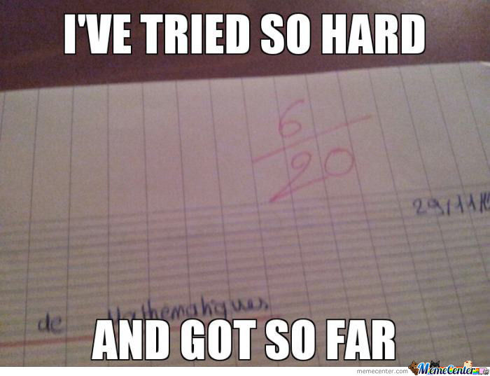 As A Lp Fan, What I Think At Every Math Test