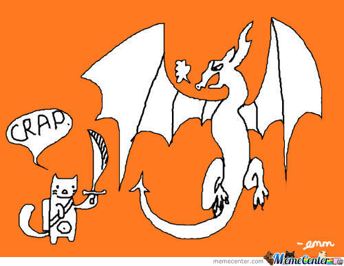 As Requested-A Cat Fighting A Dragon