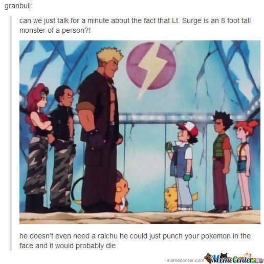 Ash Is On Perfect Blowjob Height For Lt. Surge