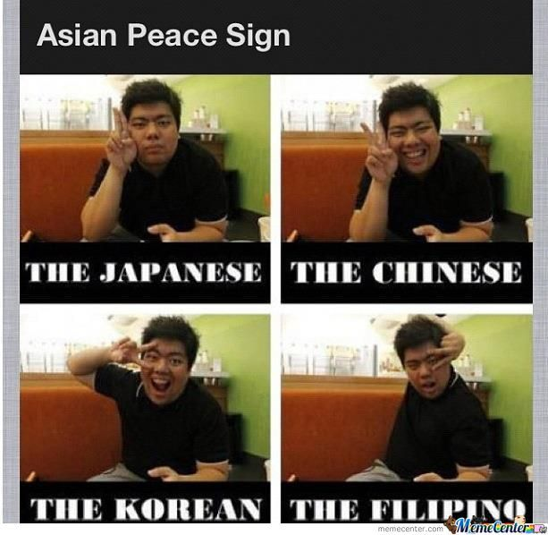 Asian Peace Sign