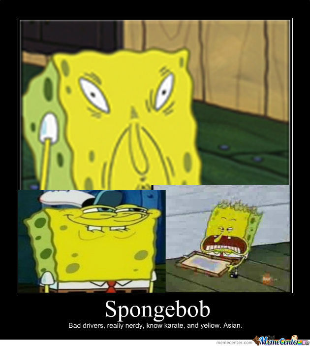 Spongebob asian face