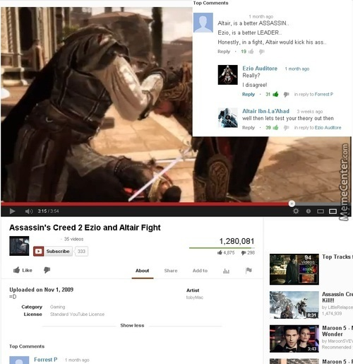 Assassin's Creed Epic Comment