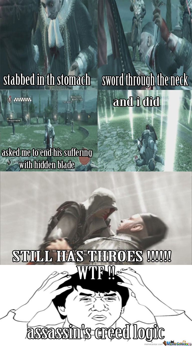Assassin S Creed Logic By Ahmad Shehadeh Greatness Meme Center