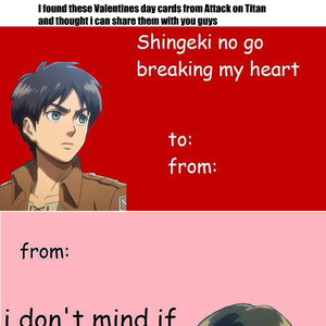 Attack On Titan Valentines Day Cards by jakus  Meme Center