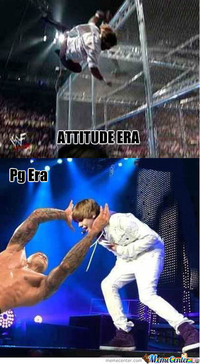 Attitude Era Vs Pg Era