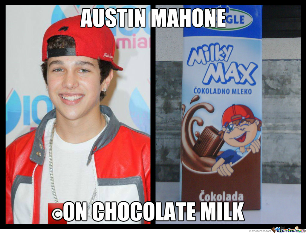 Austin mahones chocolate milk by recyclebin meme center austin mahones chocolate milk voltagebd Image collections