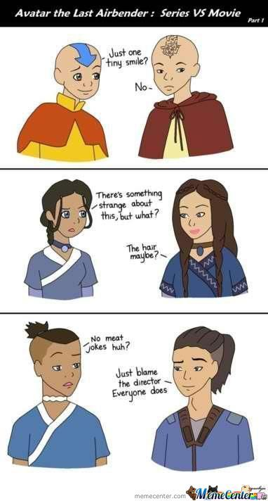 Avatar The Last Airbender Series Vs Movies By Player4funz Meme
