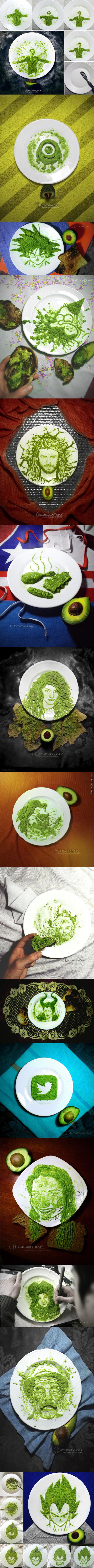 Avocado Art 2 By Boris Toledo Doorm