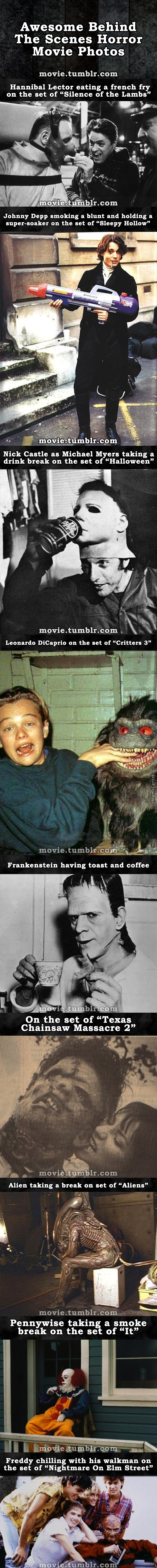 Awesome Behind The Scenes Horror Movie Photos