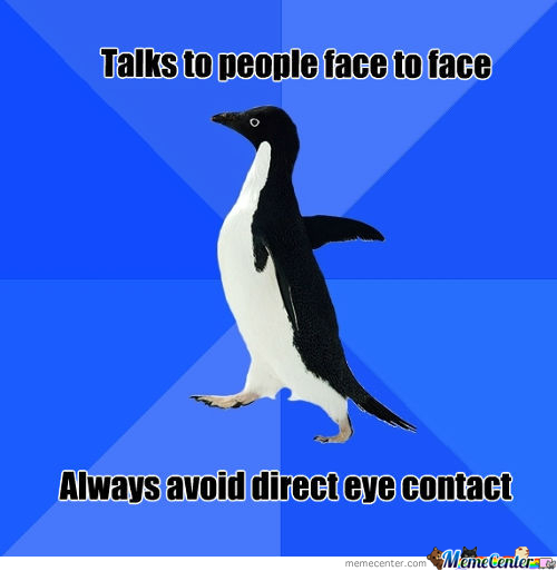 Awkward Eye Contact