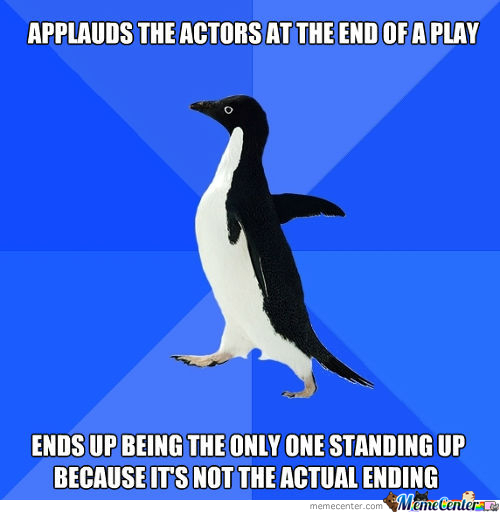 Awkward Moment On A Play