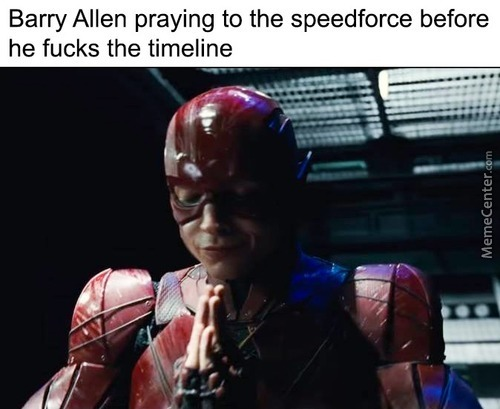 Awww! Barry Allen, The Fucker Of The Timeline Is Such A Religious Man