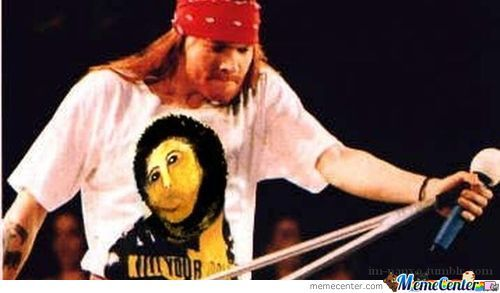 Axl Rose Wearing Jesus T Shirt