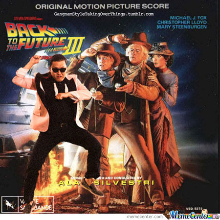 Back To The Future + Gangnam Style = Awesome