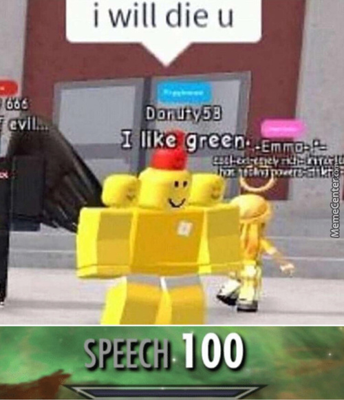 Back With Another Speech 100 Meme (Feat. Epic Roblox Boi)