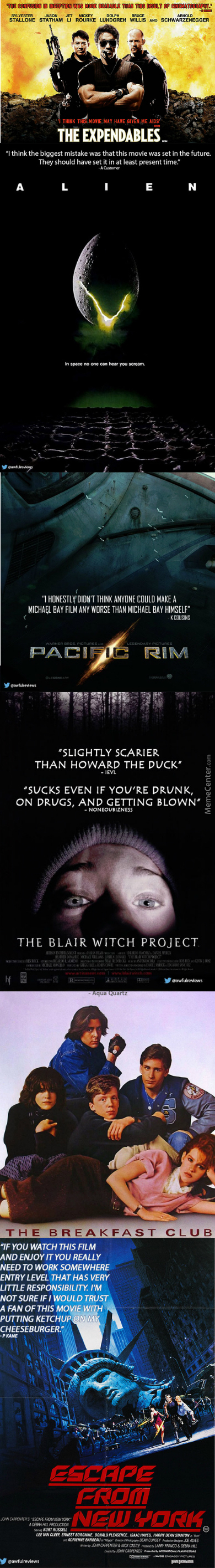 Bad Amazon Reviews Placed On Movie Posters