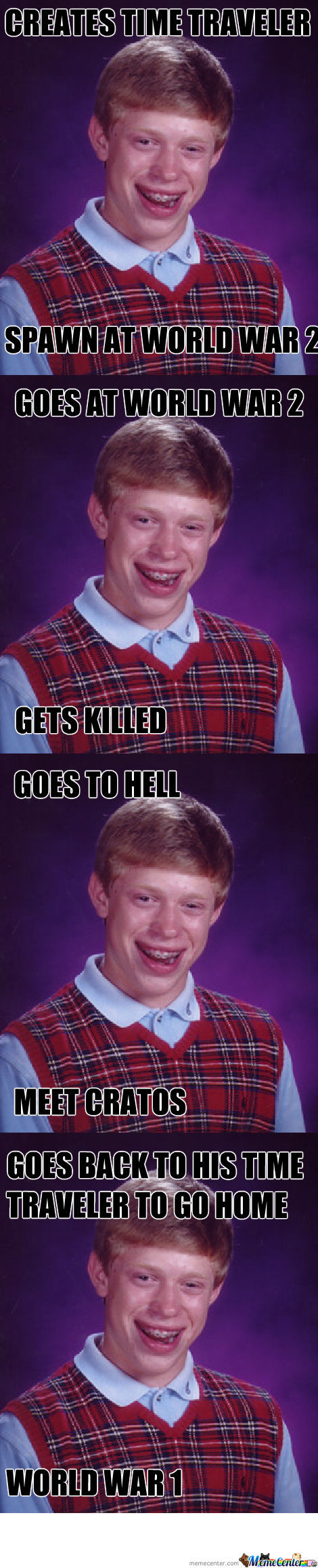 Bad Luck Brian And His Time Traveler
