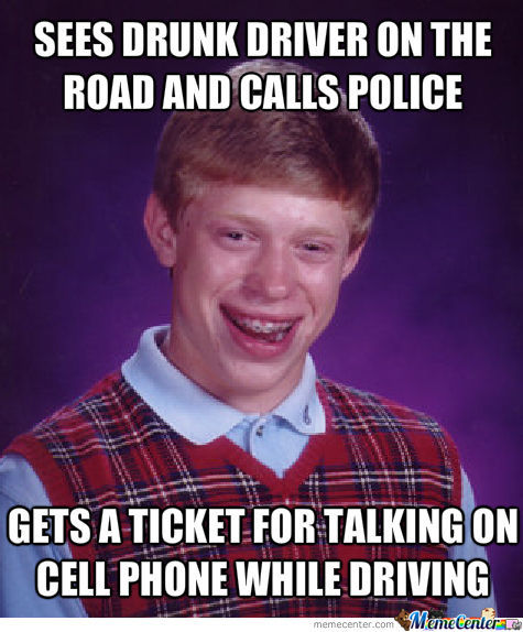 Bad Luck Brian Calls The Police