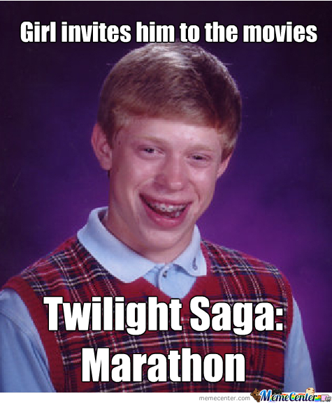 Bad Luck Brian Gets To See Shit