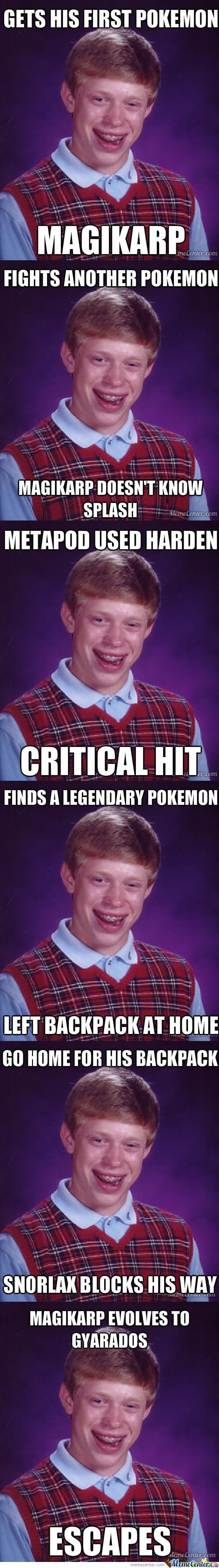 Bad Luck Brian Is Now A Pokemon Trainer