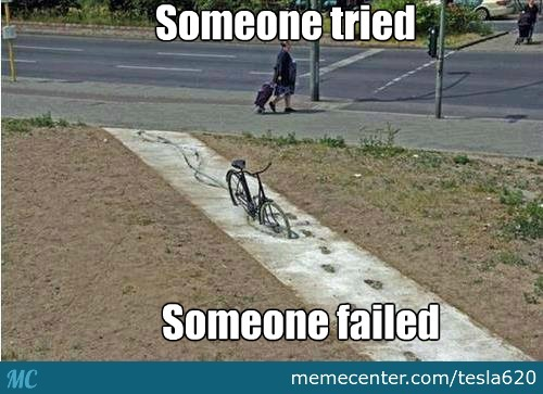 Bad Luck Brian On A Bycicle