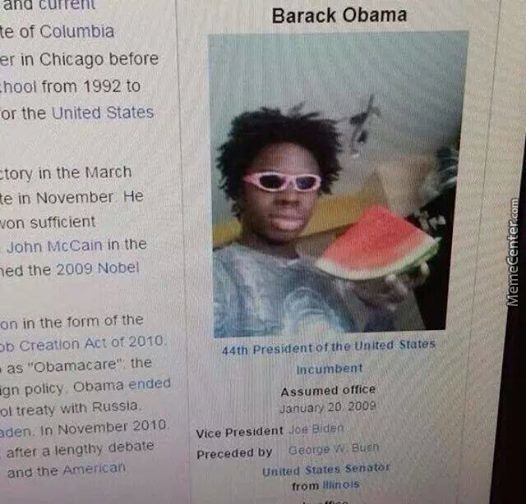 Barack Obama Got A New Wikipedia Page