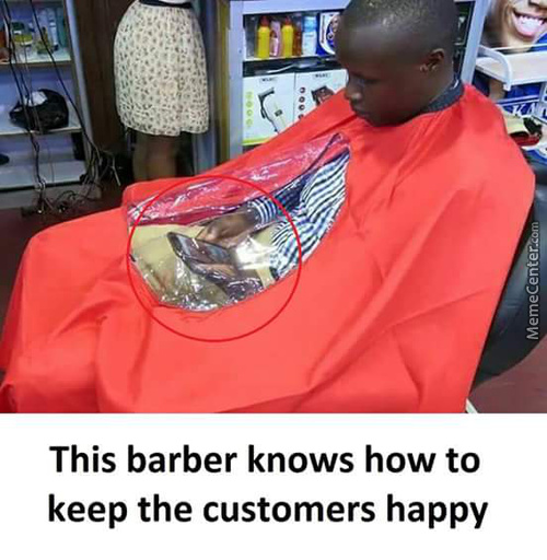 Barber Knows How To Keep Customers Happy