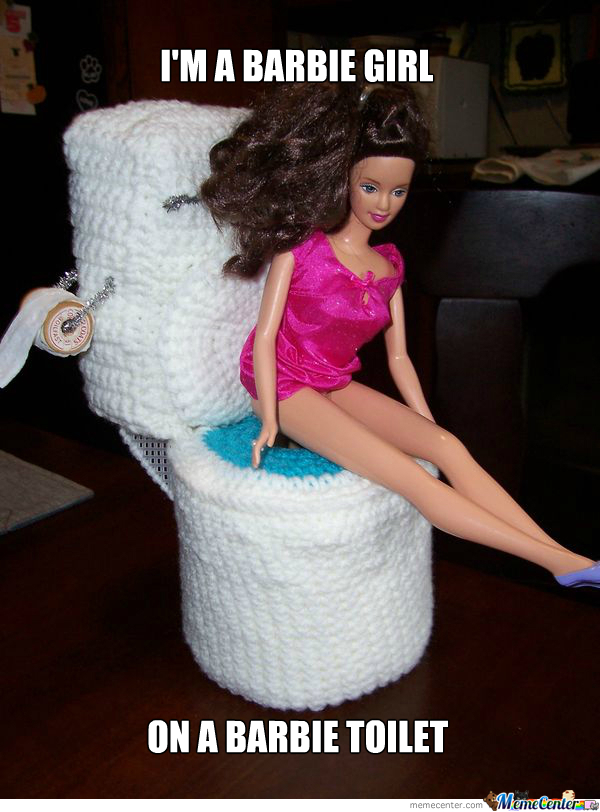 Barbie Toilets... Are Woollen.