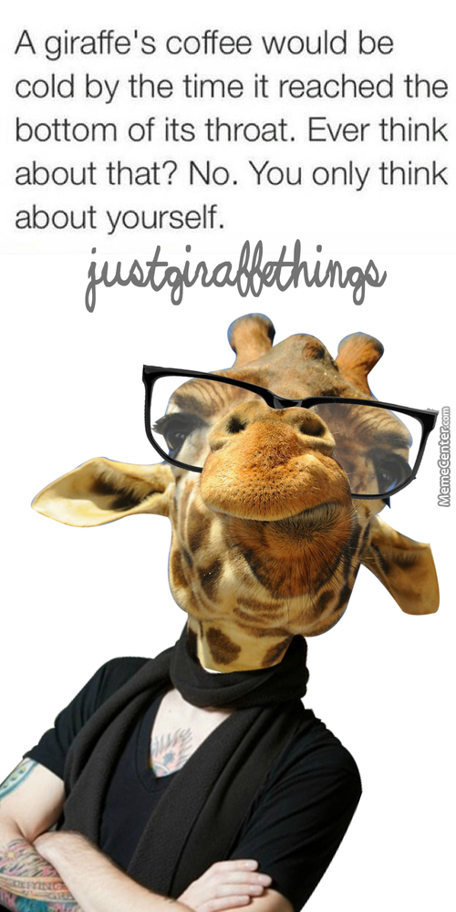 Giraffe meme coffee - photo#3