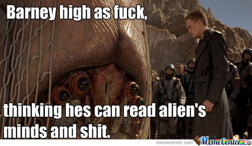 Barney In Starship Troopers