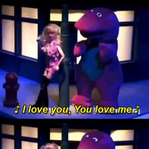 Barney Loves You Why Don't You Love Him Back by m h m - Meme