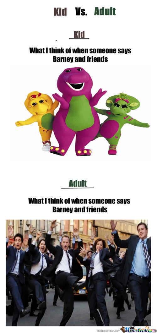 Barney Then And Now