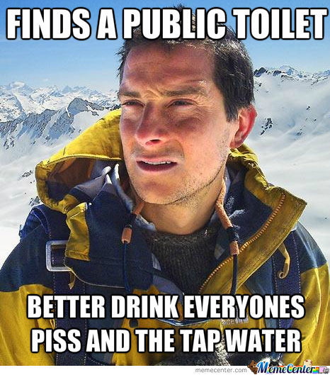 Bear Grylls In A Toilet