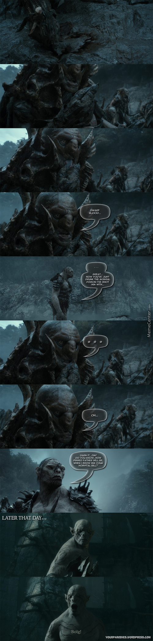 Becaus Of The Hospital Bill, Azog Can't Afford A Good Army