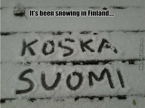 Because Finland