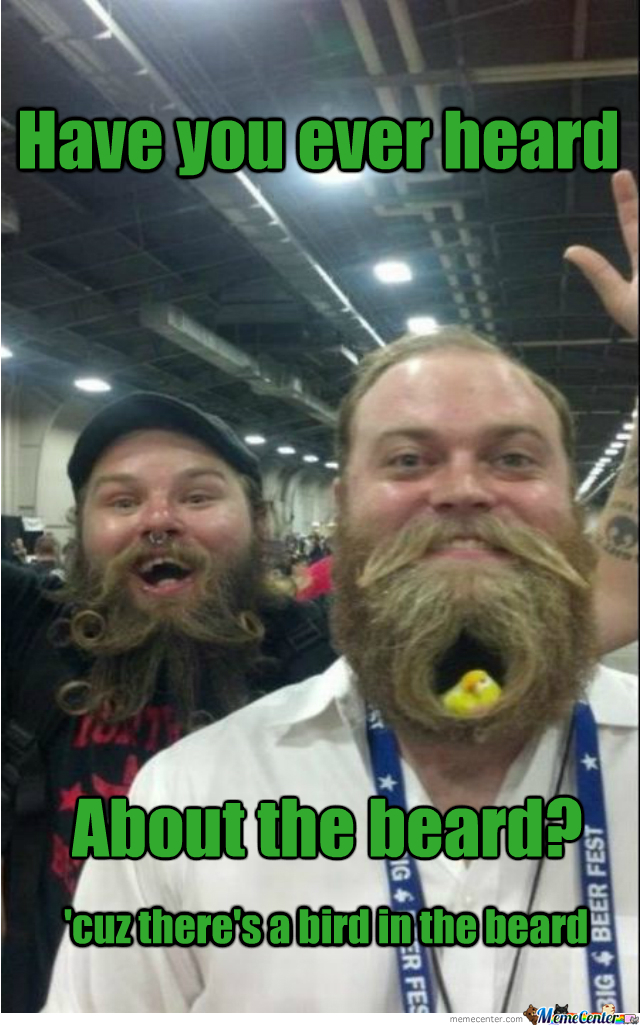 Because The Beard Is The World