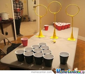 Beer Pong: Qudditch Style