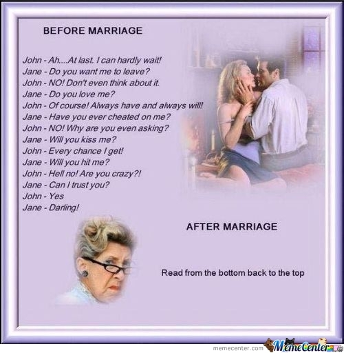 Before After Marriage