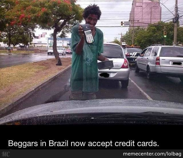 Beggars Accept Credit Cards