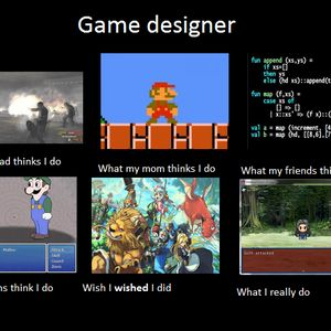 being a game designer