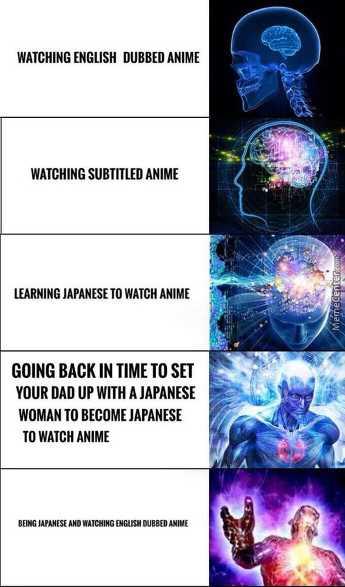 Being Japanese And Watching Italian Dubbed Anime