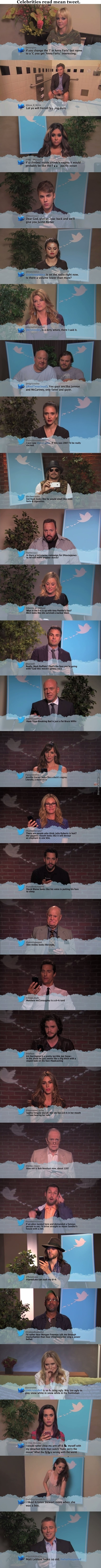 Best Of : Celebrities Read Mean Tweets. - Jimmy Kimmel Show