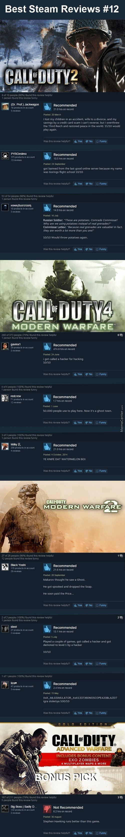 Best Steam Reviews #12 - The Best Cod Of Dooties