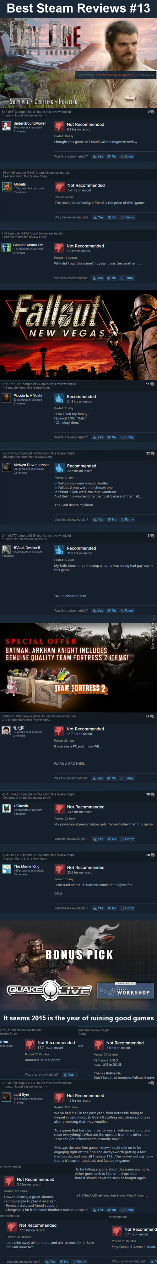 Best Steam Reviews #13 - The 4 Bad Games