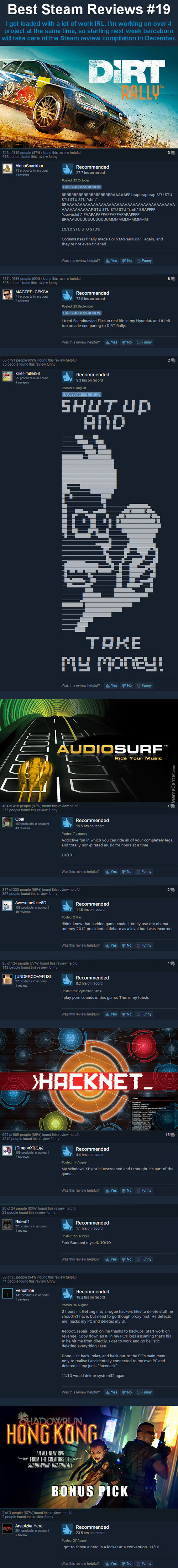 Best Steam Reviews #19 - Invader Is Kill This Month