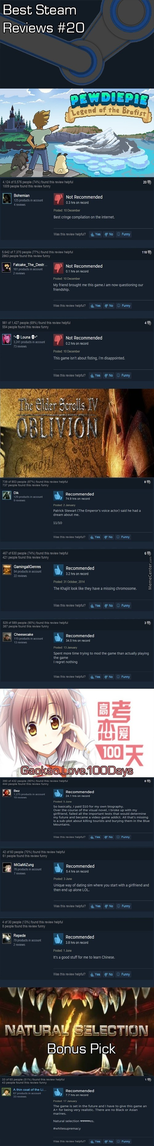 Best Steam Reviews #20- Barcaborn's First Take Since The Original Op 1Nvader Is Kill For This Month