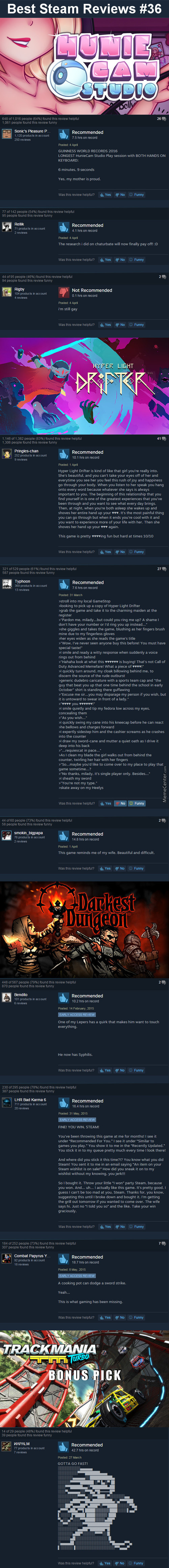 Best Steam Reviews #36 - Yes, I Unironically Like Dxd